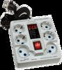 تصویر محافظ ولتاژ ۶ پریز دیجیتال شیوا امواج